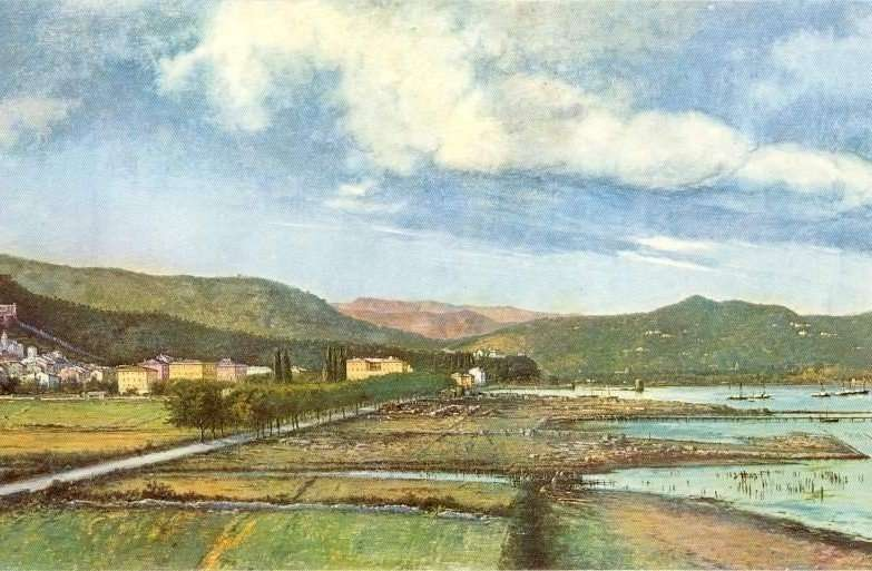 La Spezia at Dickens's time in the view of the local painter Agostino Fossati