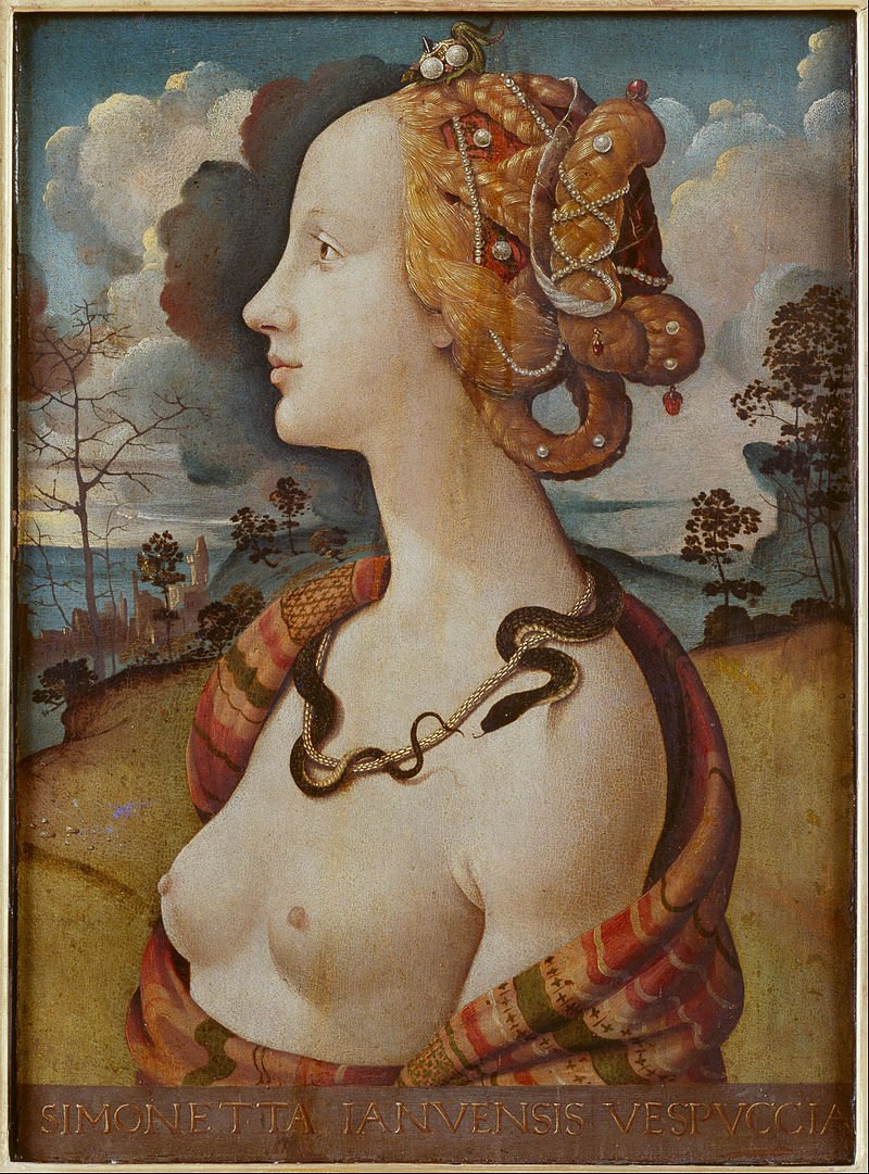 The painting was completed six years after Simonettta's death.