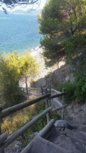 the stair ending in the beach of Punta Corvo - ph. Tripadvisor