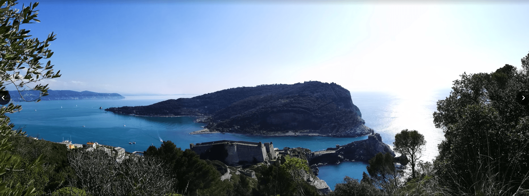 THe view of Palmaria from the Portovenere castle