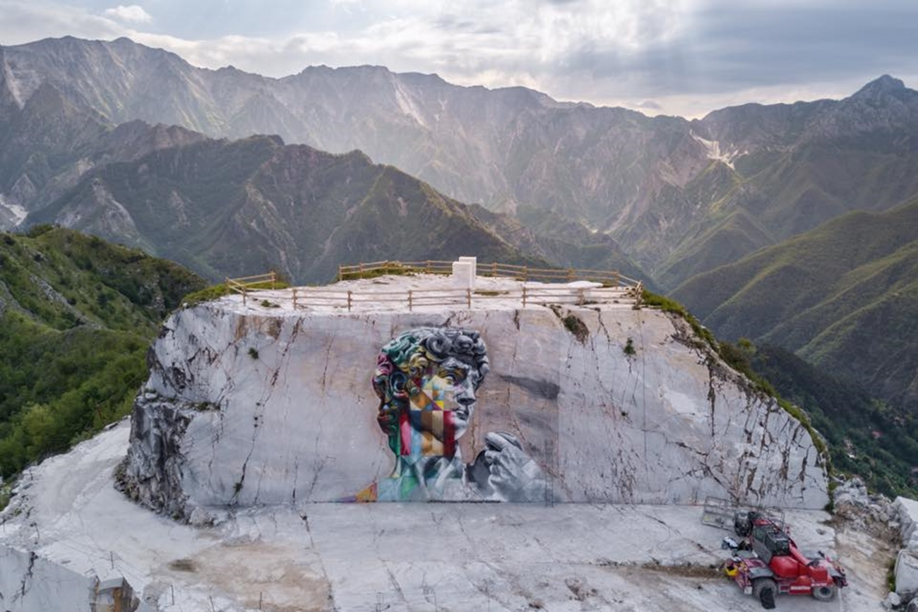 Carrara Marble Quarries on Michelangelo's footprints